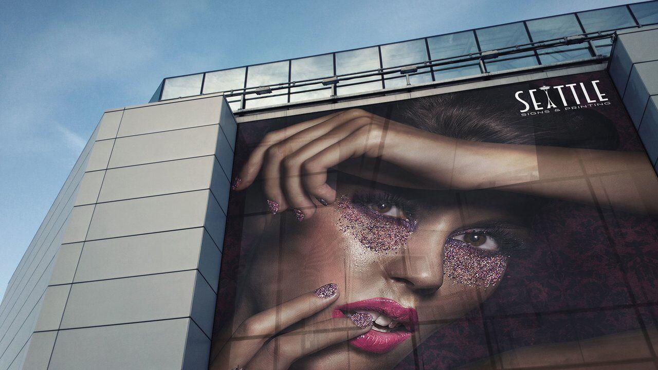 экран на здание